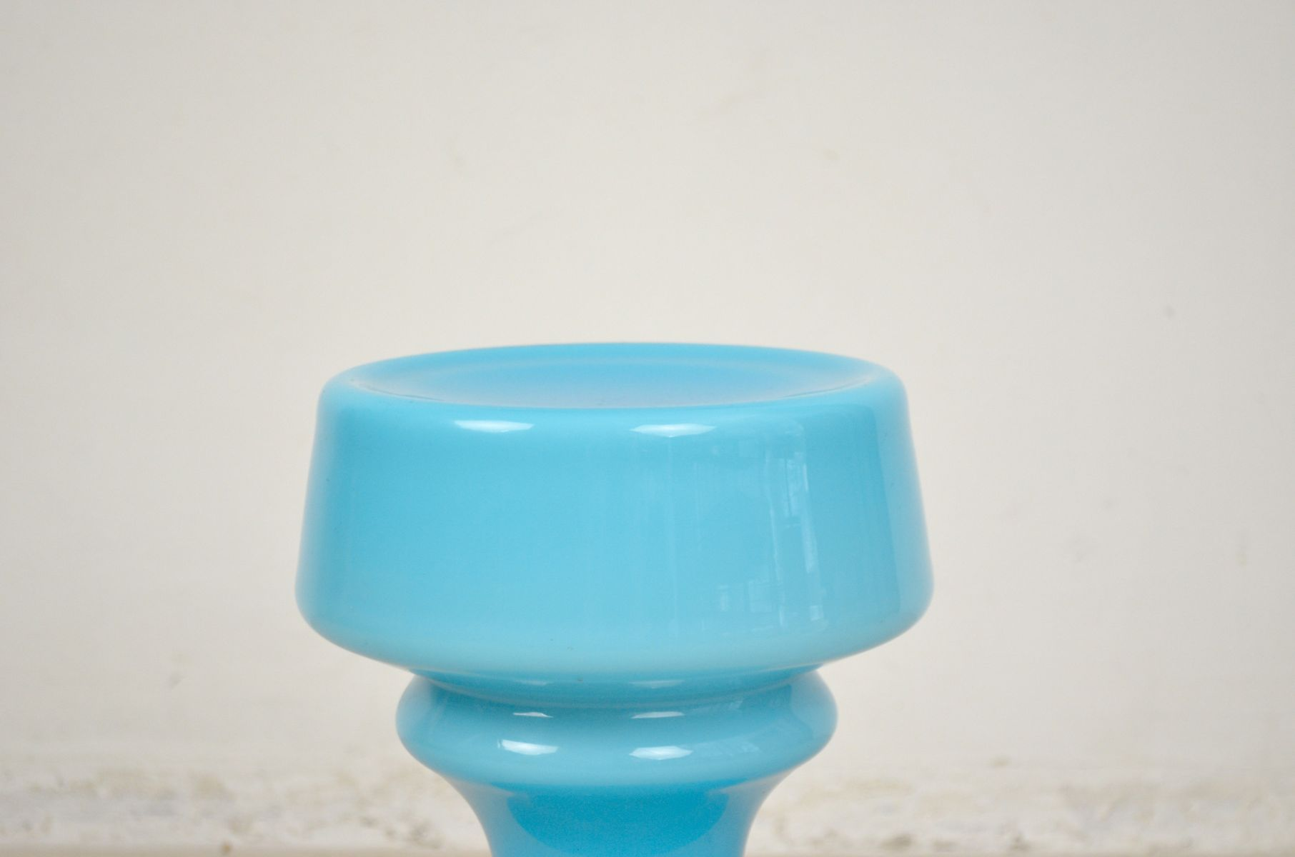 Blue Glass Table Lamp, 1960s for sale at Pamono