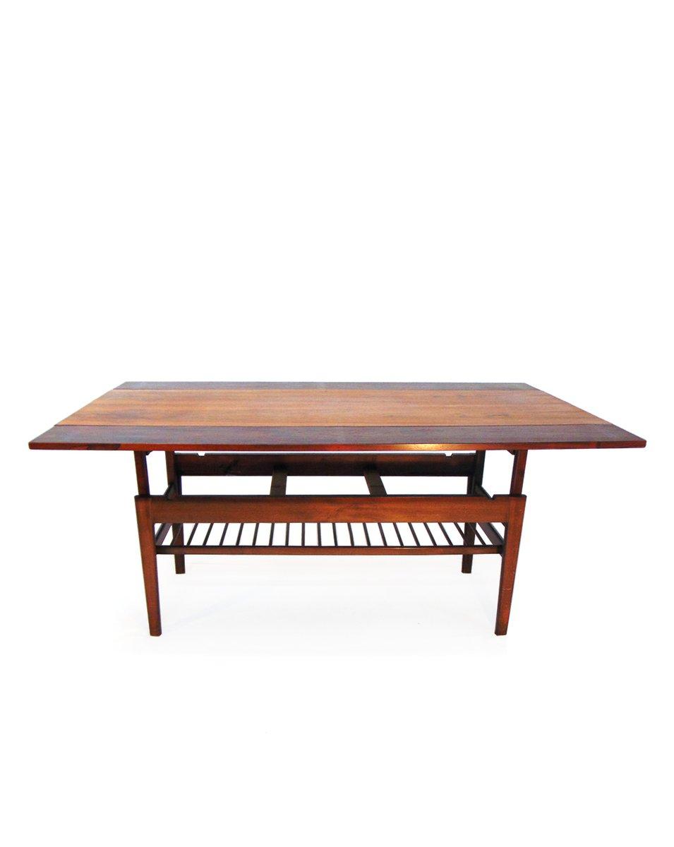 danish coffee table in rosewoodjohannes andersen, 1960 for