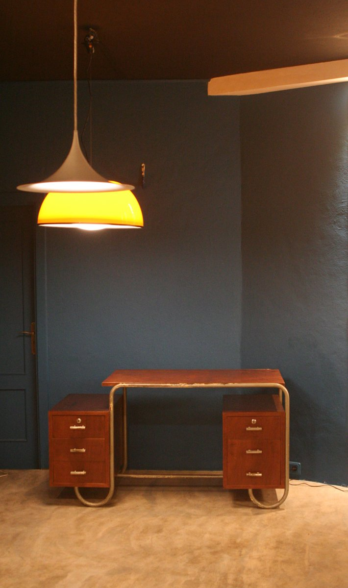 Industrial Desk mid-century tubular industrial desk from adico for sale at pamono