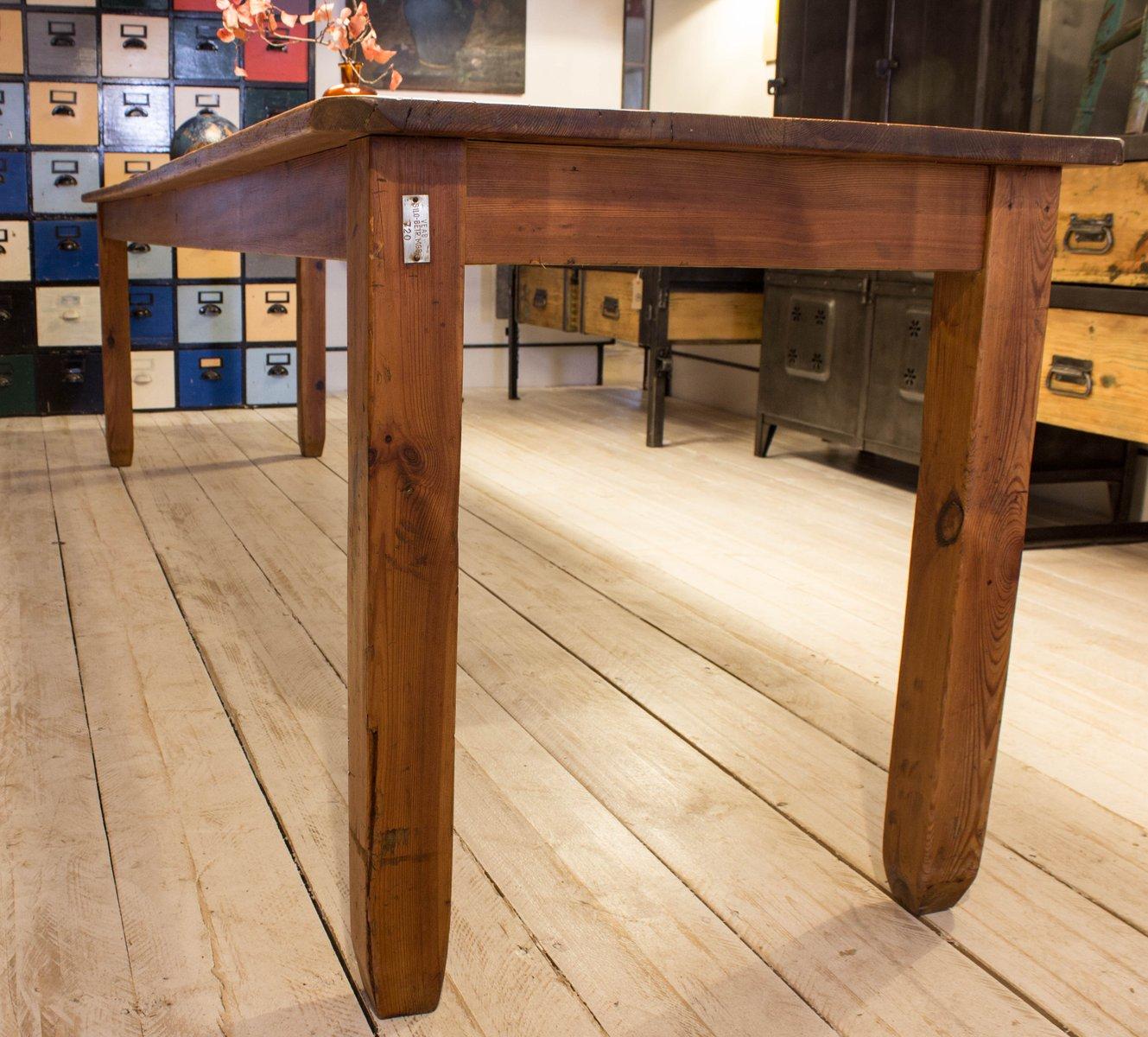 antiker kiefernholz packtisch bei pamono kaufen. Black Bedroom Furniture Sets. Home Design Ideas