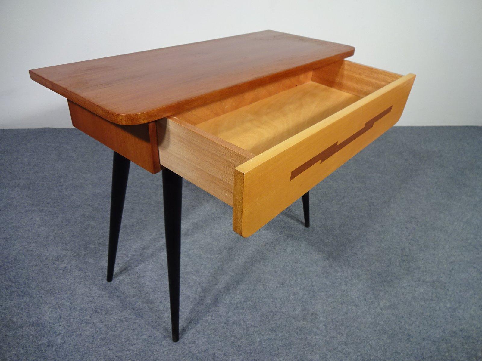 kleiner tisch mit schublade von diele und flur 1950er bei. Black Bedroom Furniture Sets. Home Design Ideas