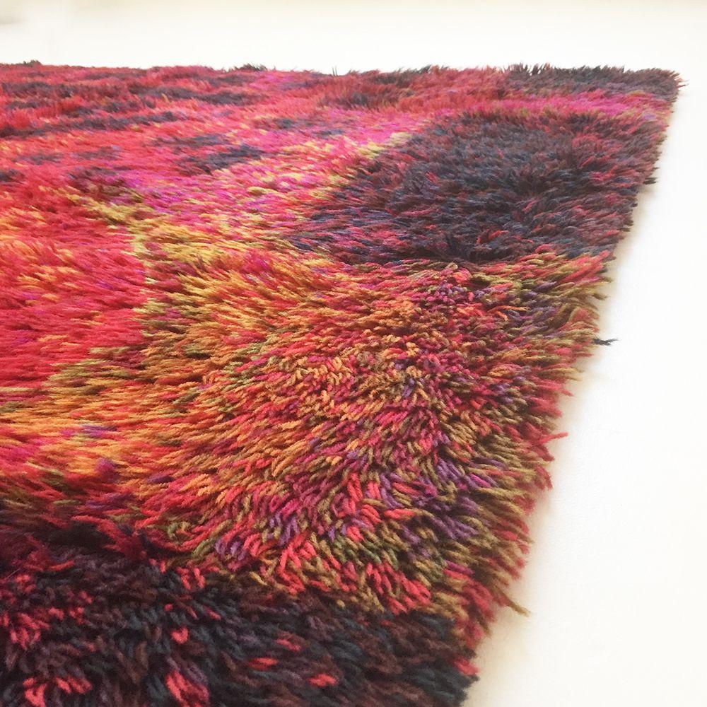 skandinavischer rya teppich von ritva puotila f r finnrya. Black Bedroom Furniture Sets. Home Design Ideas