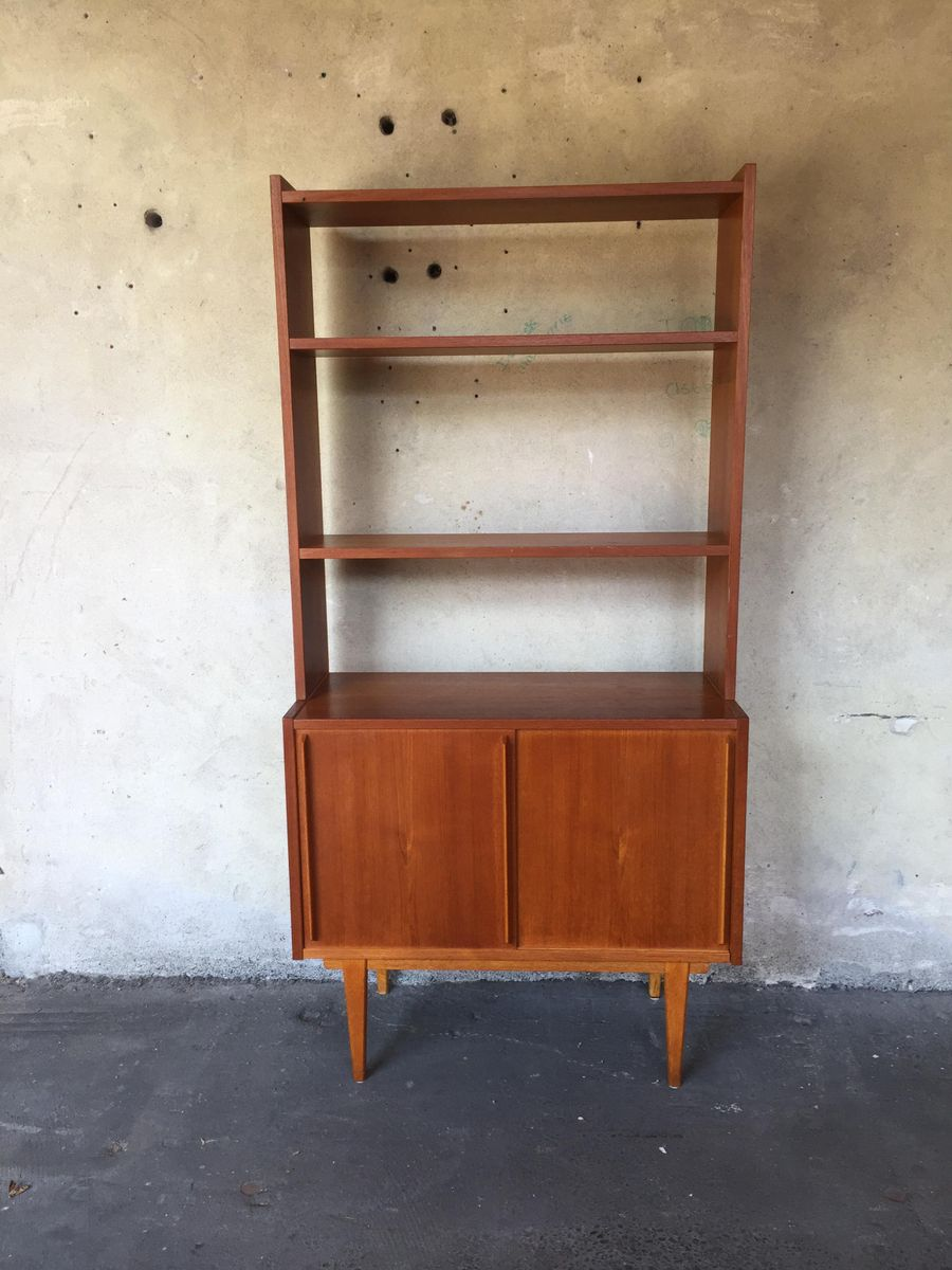 Swedish double cabinet with floating desk 1960s for sale for Floating desk for sale