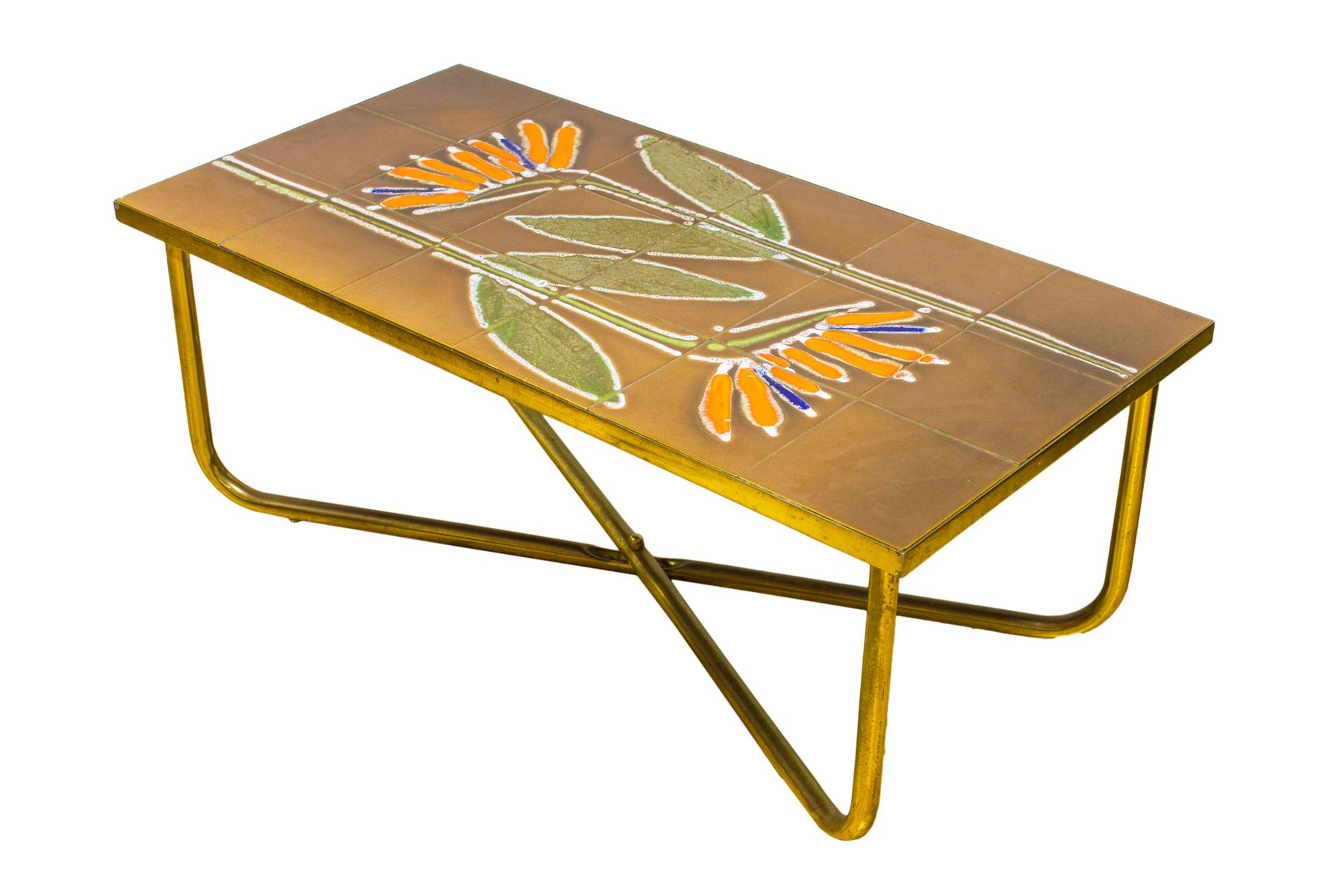 Vintage Danish Tiled Coffee Side Table from Adri for sale at Pamono
