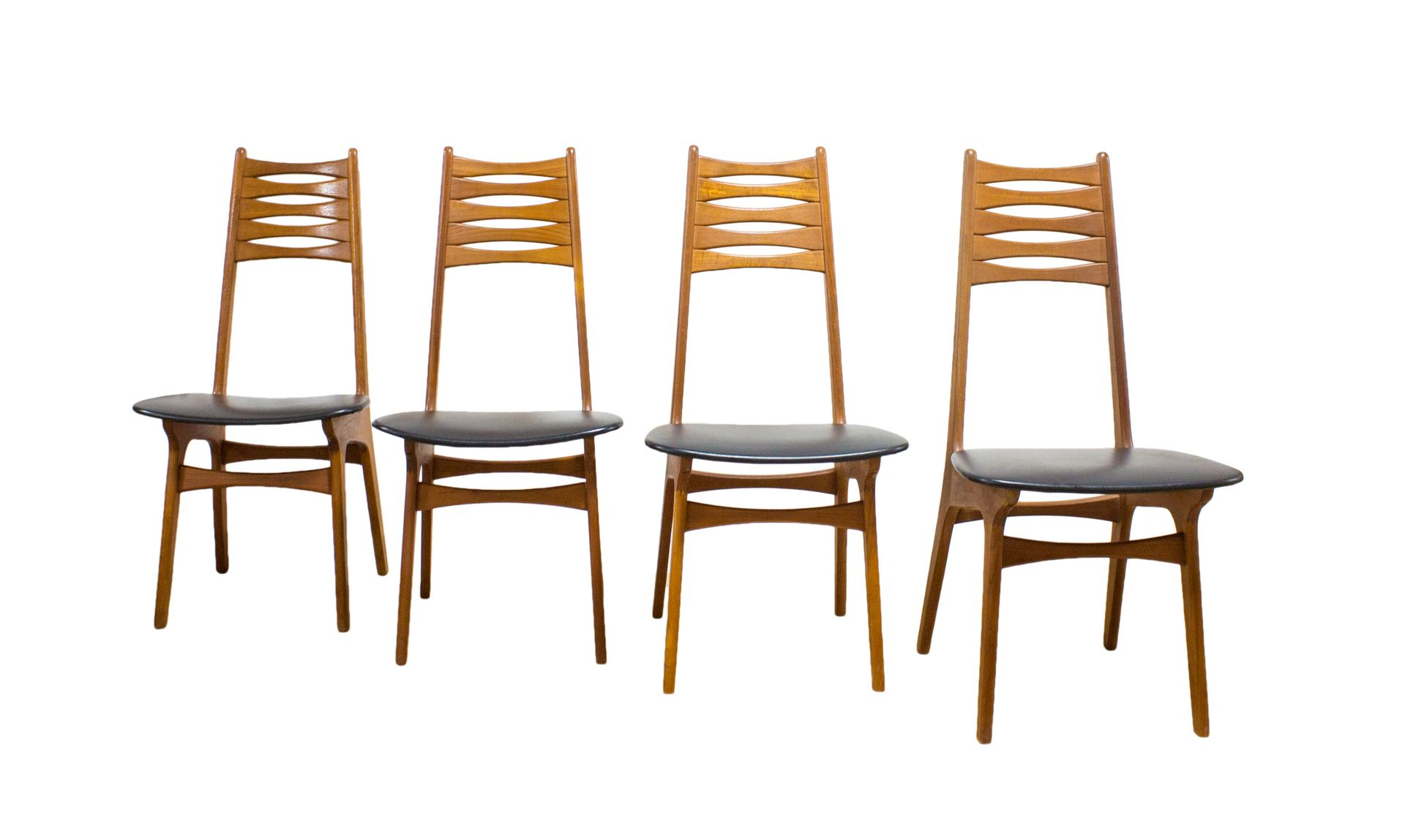 mid century model 83 teak chairs by niels otto m 248 ller for