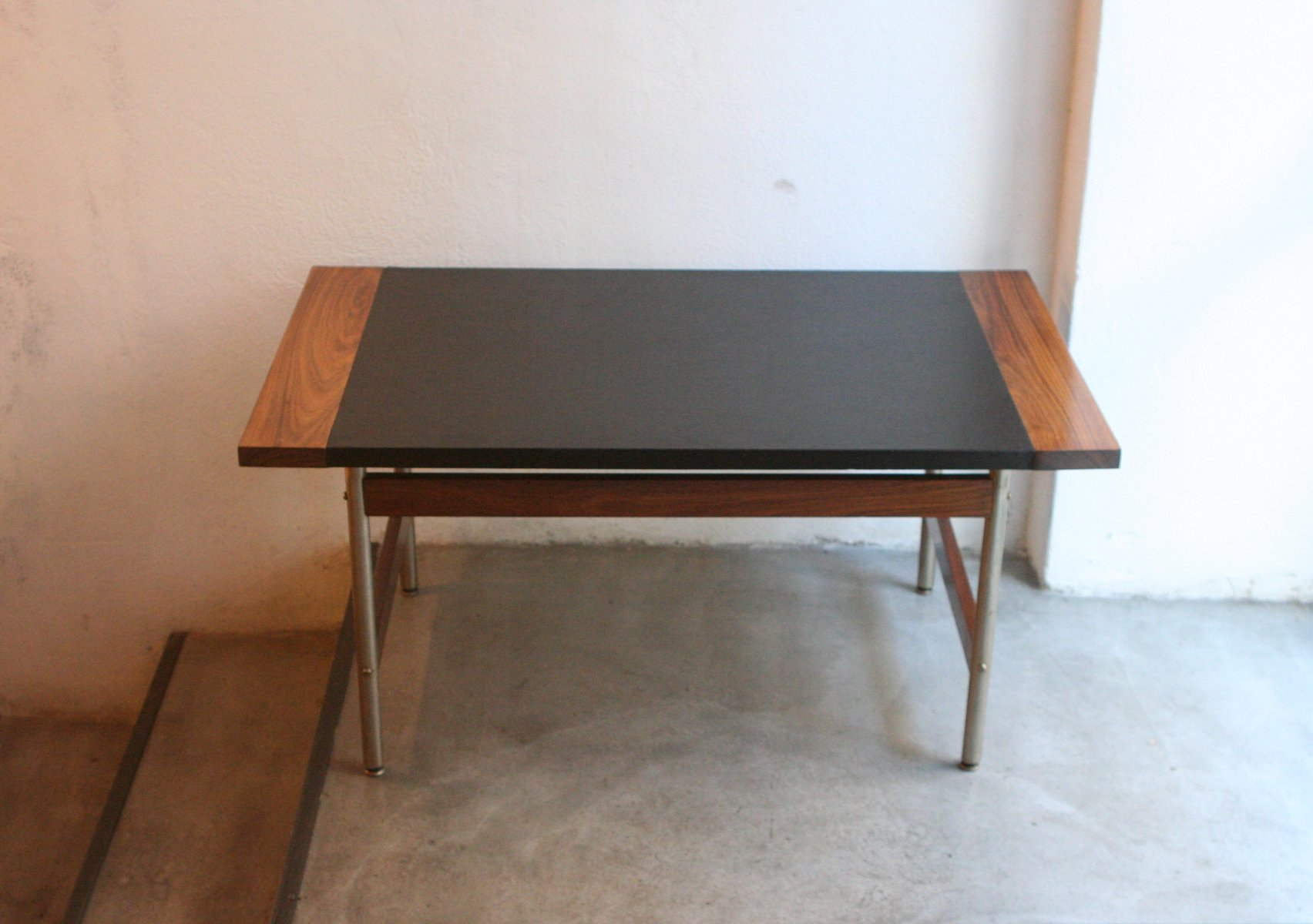 Vintage Rosewood And Leather Coffee Table By Sven Ivar Dysthe For Dokka M Bler For Sale At Pamono