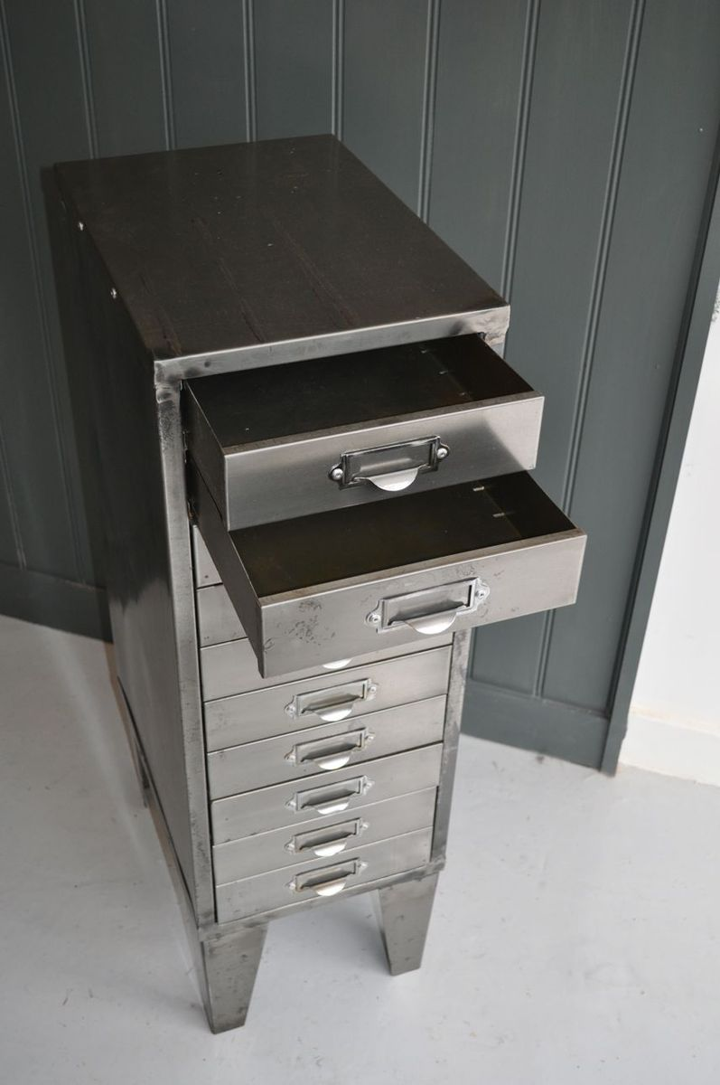 Vintage metal cabinet with drawers for sale at pamono for Kitchen drawers for sale