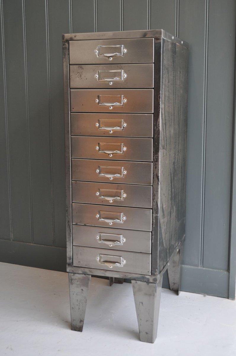 vintage metallschrank mit schubladen bei pamono kaufen. Black Bedroom Furniture Sets. Home Design Ideas