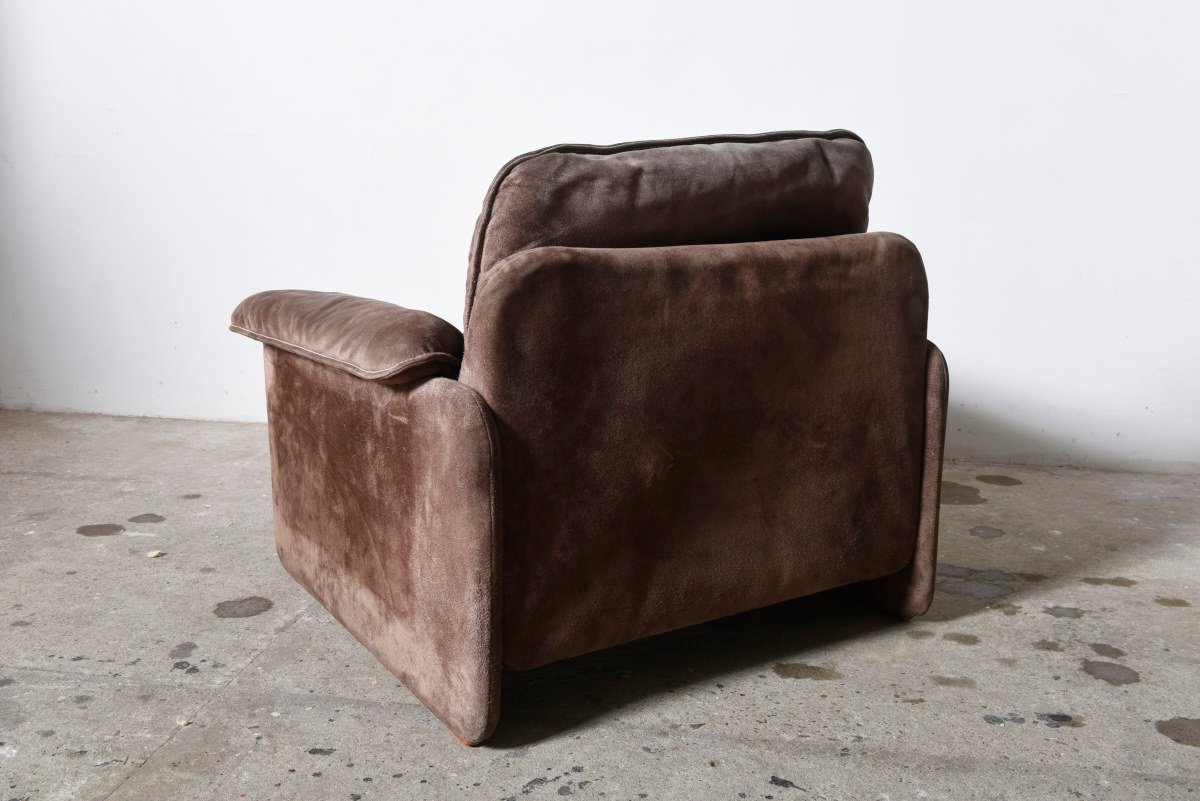 braune mid century wildleder sessel von cassina 2er set bei pamono kaufen. Black Bedroom Furniture Sets. Home Design Ideas