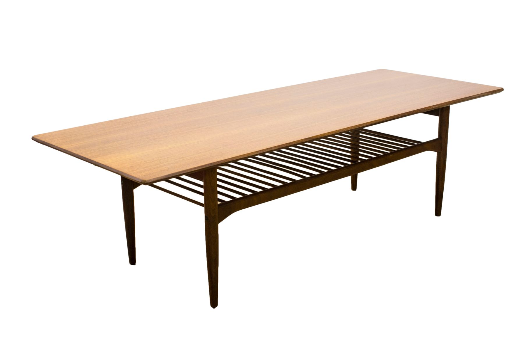 Mid Century Scandinavian Range Teak Coffee Table by Ib Kofod
