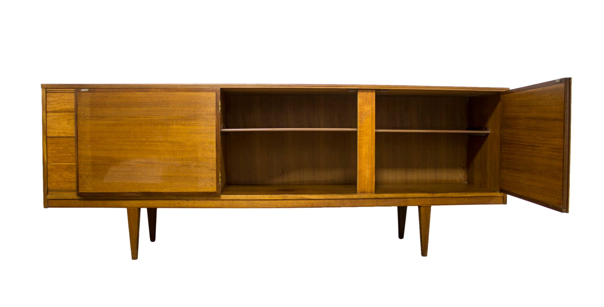 mid century teak sideboard by alfred cox for sale at pamono. Black Bedroom Furniture Sets. Home Design Ideas