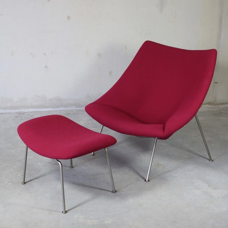Mid-Century Oyster Chair u0026 Foot Stool by Pierre Paulin for Artifort & Mid-Century Oyster Chair u0026 Foot Stool by Pierre Paulin for ... islam-shia.org