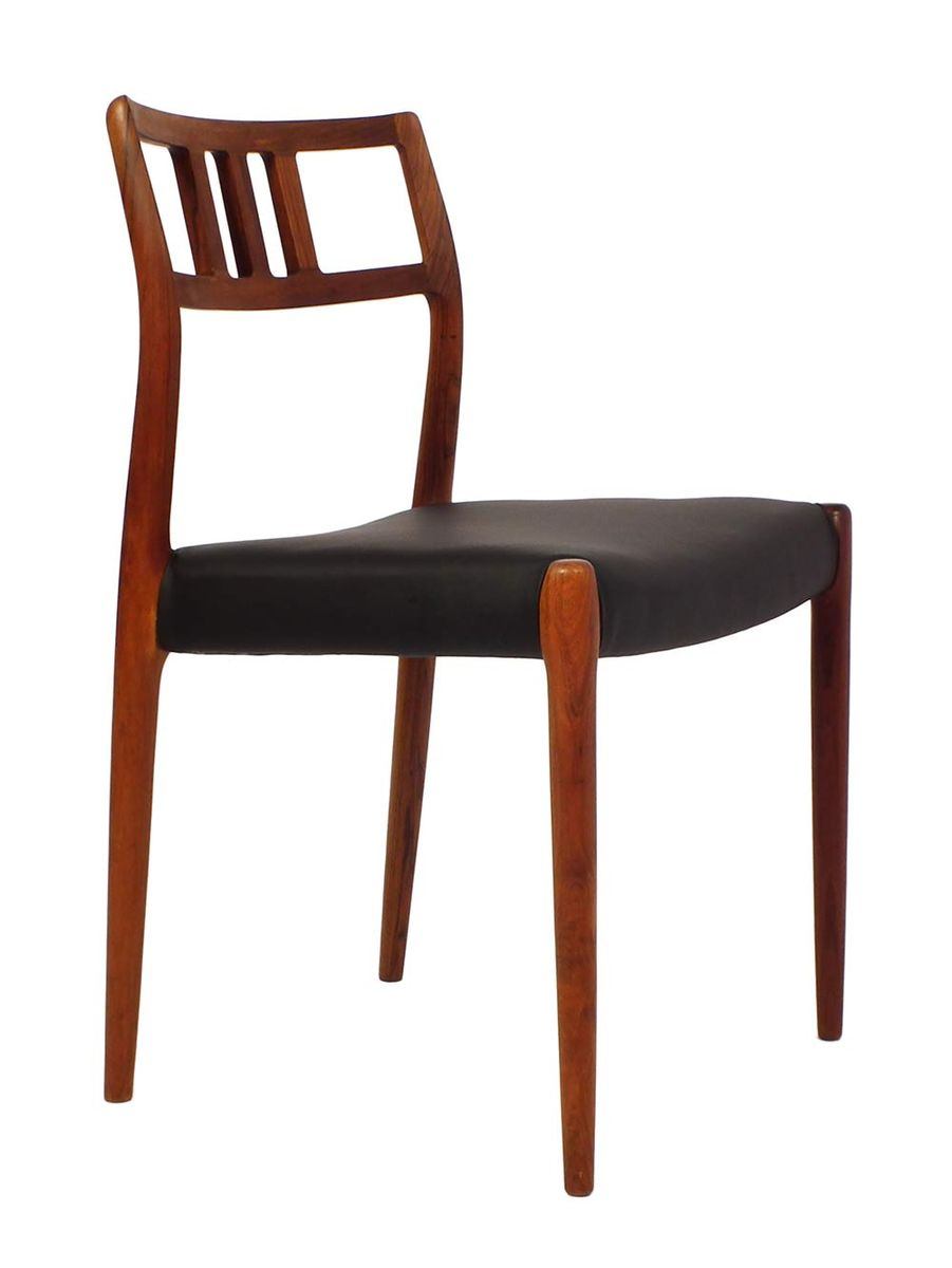 Vintage model chairs by niels o moller set of for