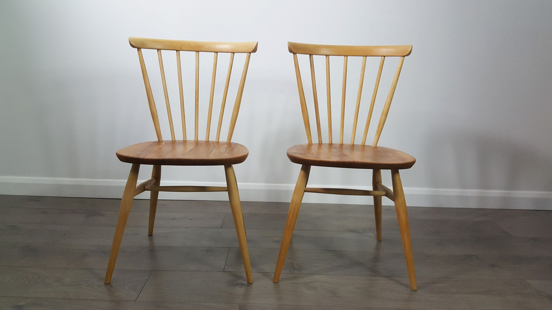 Windsor Bow Top Chairs by Lucian Ercolani for Ercol 1960s Set of