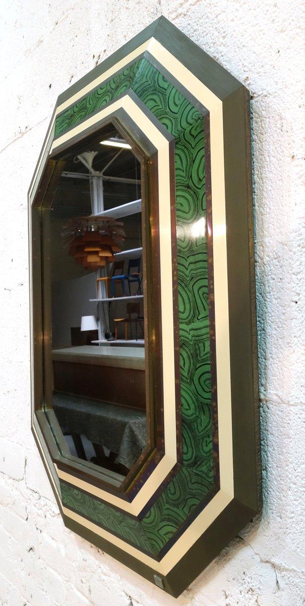 gro er spiegel von jean claude mahey 1980er bei pamono kaufen. Black Bedroom Furniture Sets. Home Design Ideas
