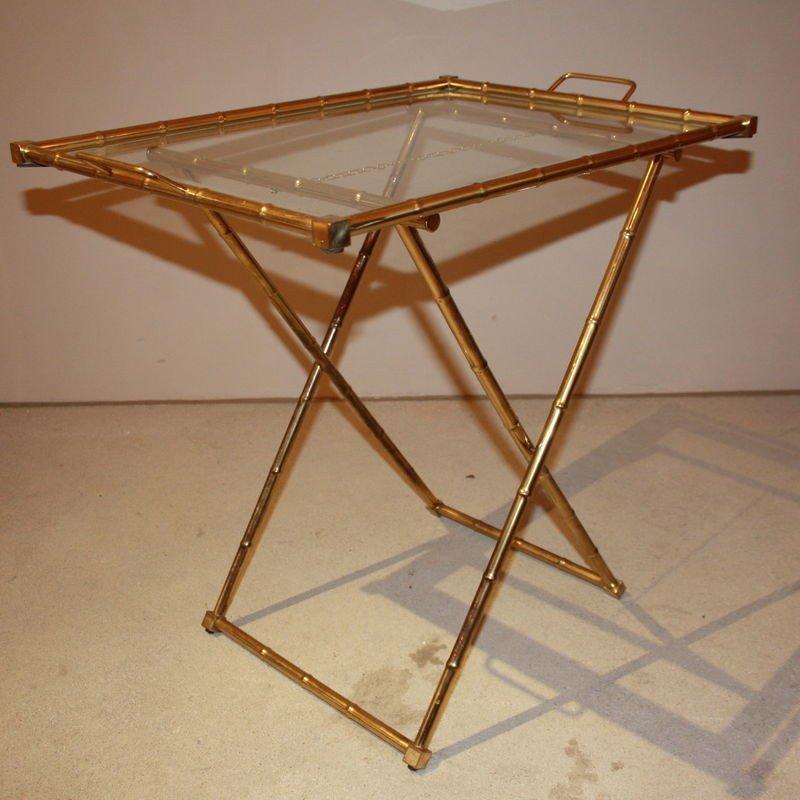 beistelltisch mit tablett 1960er bei pamono kaufen. Black Bedroom Furniture Sets. Home Design Ideas