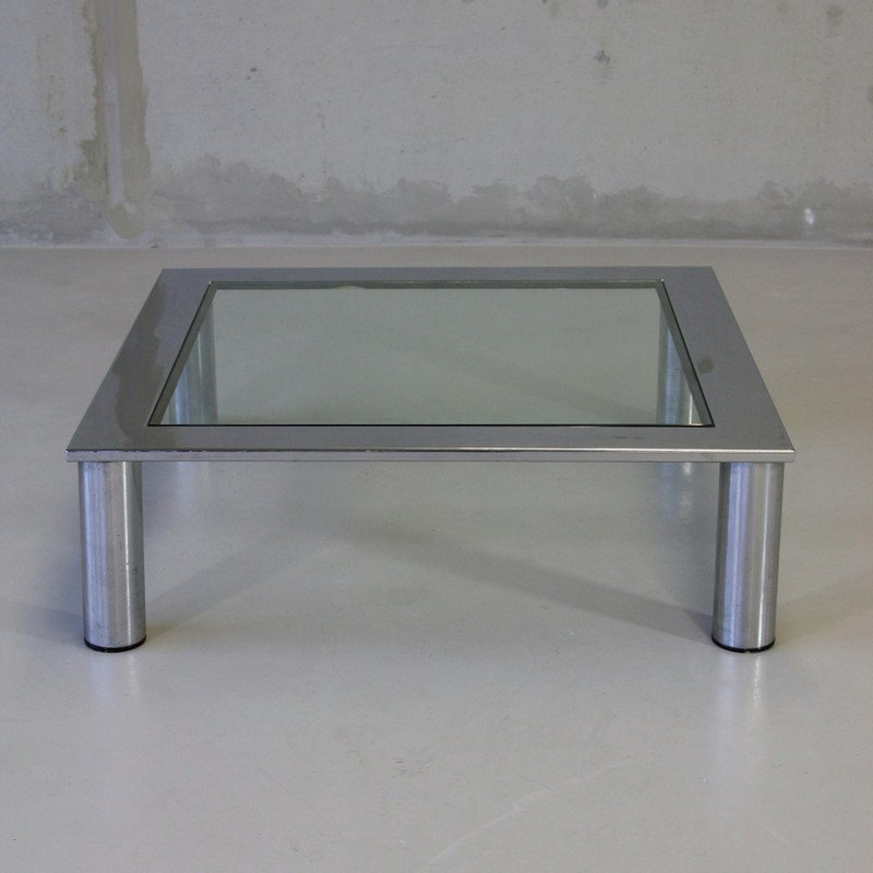 Vintage Italian Glass Coffee Table 1970s For Sale At Pamono