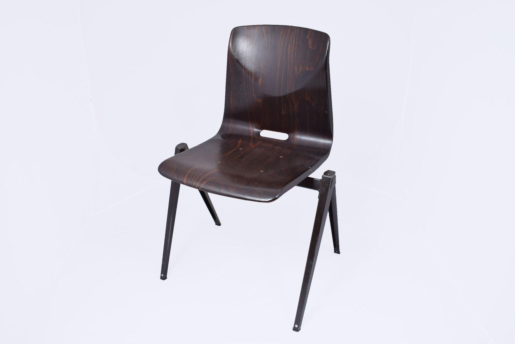 dunkelbrauner s22 stuhl von galvanitas 1967 bei pamono kaufen