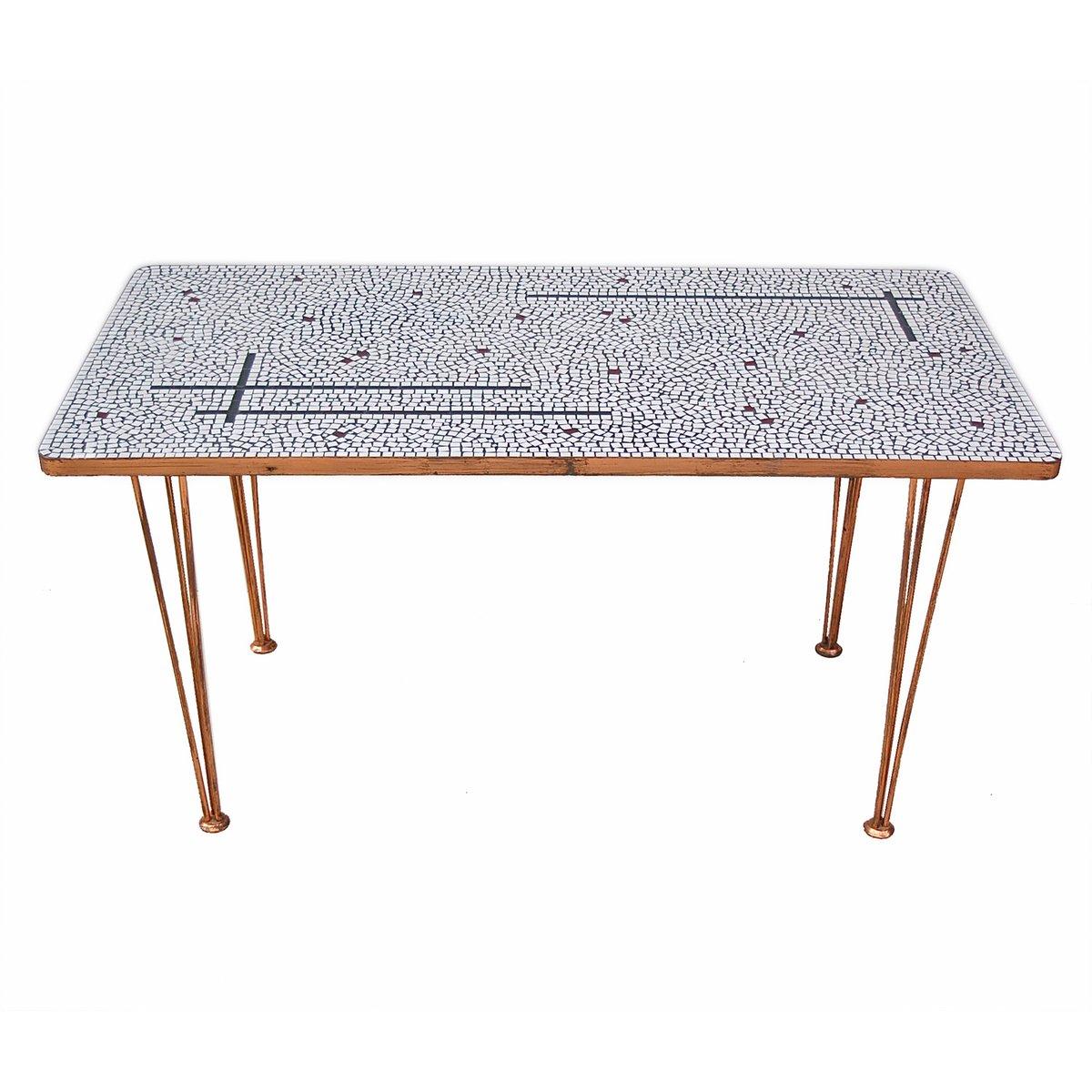 table d 39 appoint en verre et mosa que avec finition en. Black Bedroom Furniture Sets. Home Design Ideas
