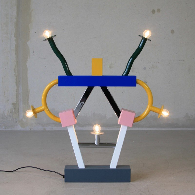 Vintage ashoka lamp by ettore sottsass for memphis for for Memphis sottsass