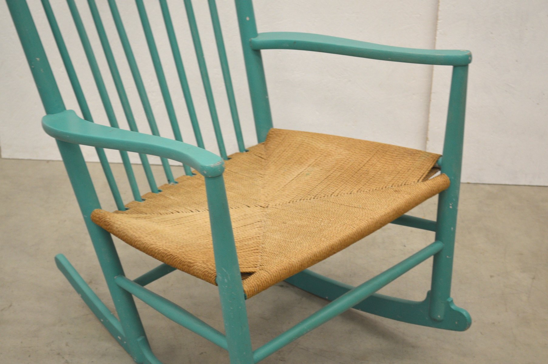 Danish JH16 Rocking Chair by Hans Wegner for FDB M¸bler 1960s for