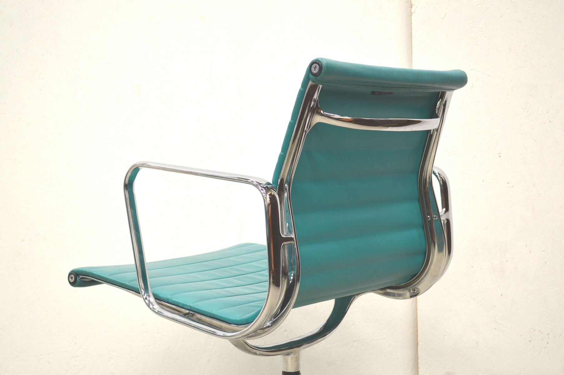 Turquoise EA108 Aluminum fice Chairs by Charles & Ray Eames for