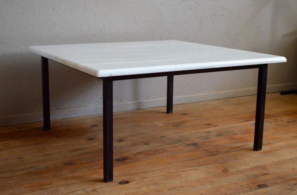 wei er marmor couchtisch mit stahlrohr gestell 1970er bei. Black Bedroom Furniture Sets. Home Design Ideas