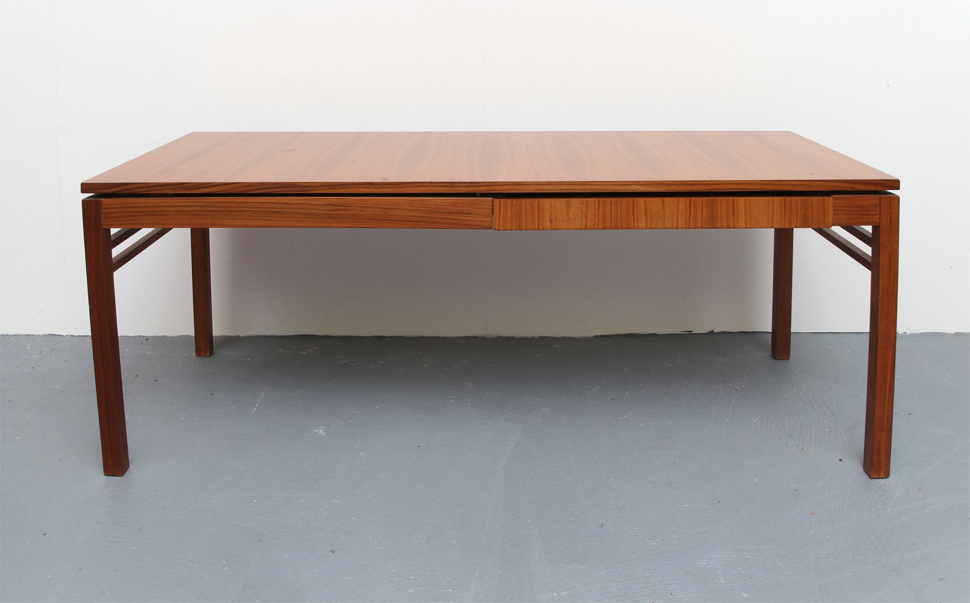 Walnut Veneer Coffee Table With Extending Plates 1960s For Sale At Pamono