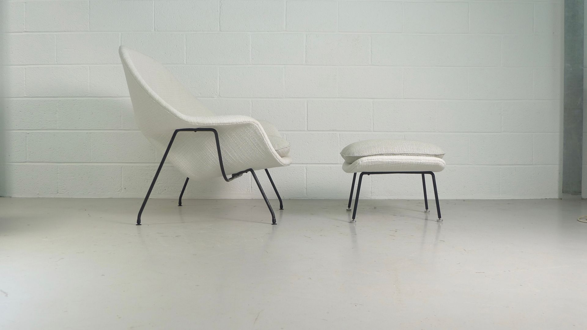 Vintage womb chair and ottoman by eero saarinen for knoll for sale at pamono - Vintage womb chair for sale ...