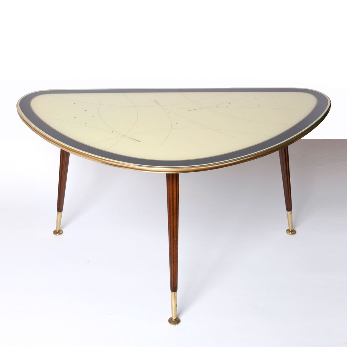 mid century brass cocktail table from iise m bel 1950s. Black Bedroom Furniture Sets. Home Design Ideas