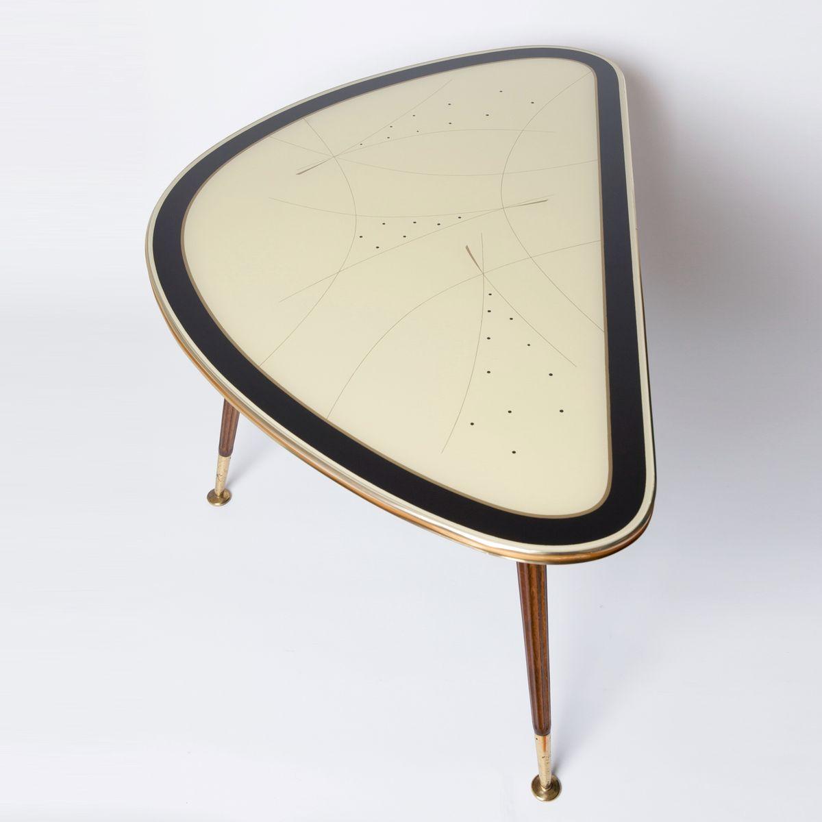 MidCentury Brass Cocktail Table from IIse Möbel, 1950s  -> Vintage Möbel Pamono