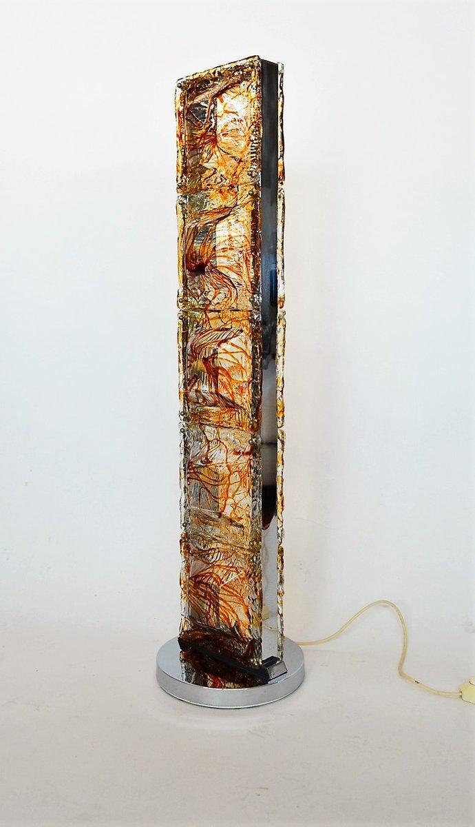 stehlampe aus murano glas chrom von mazzega 1970er bei. Black Bedroom Furniture Sets. Home Design Ideas