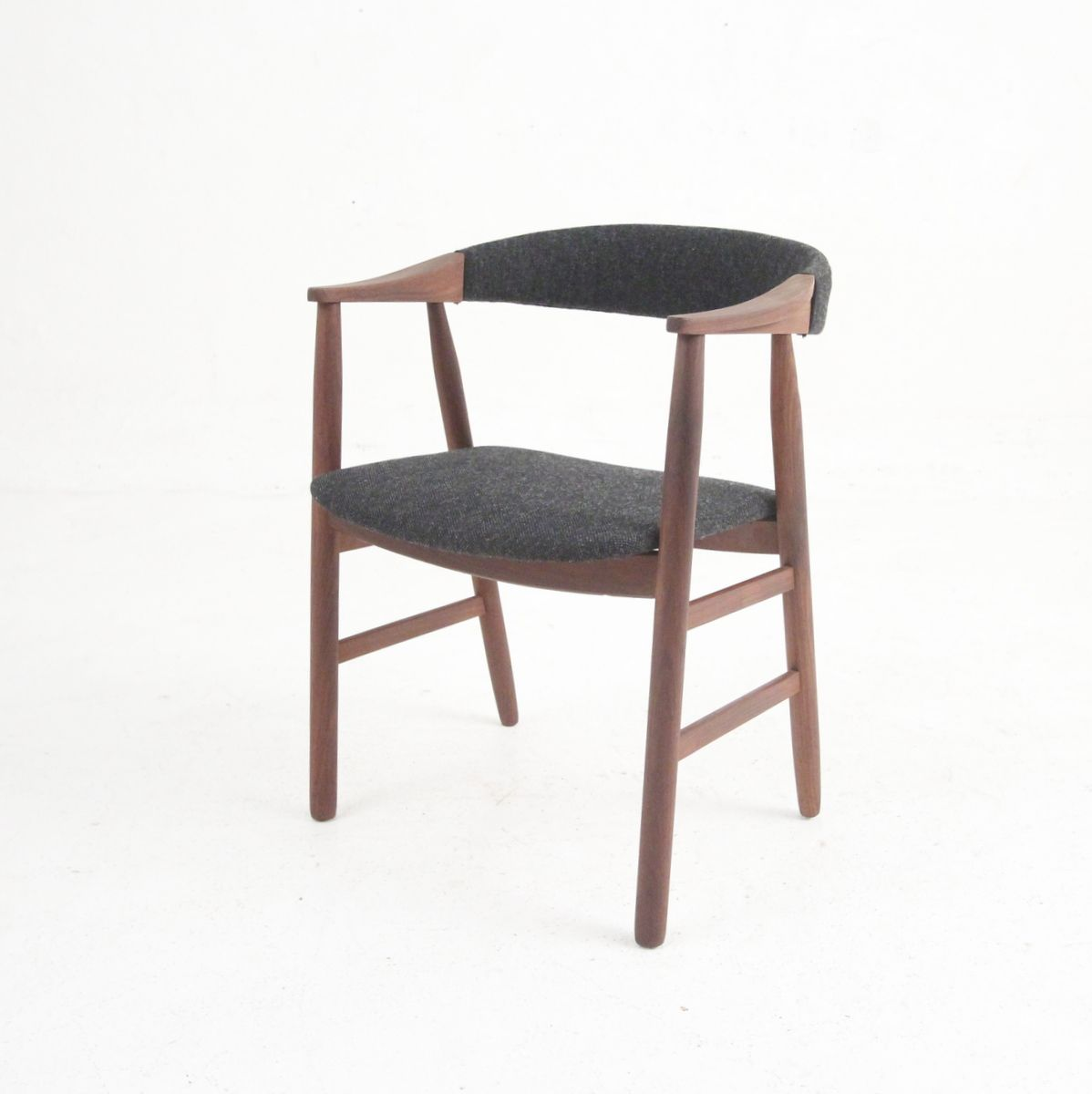 midcentury danish modern armchair in rosewood and wool for sale  - price per piece