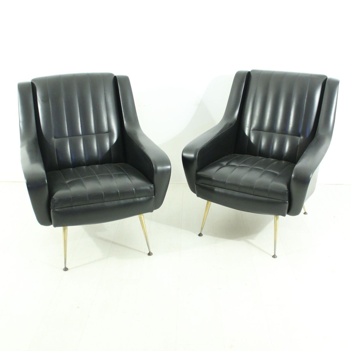 Black armchairs 1950s set of 2 for sale at pamono for 2 armchairs for sale