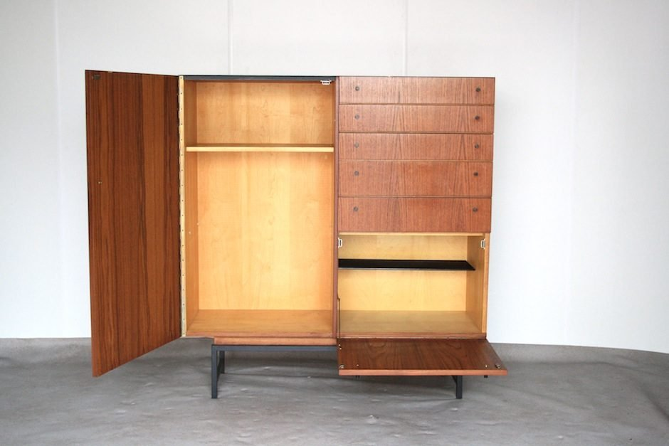 hoher mid century schrank bei pamono kaufen. Black Bedroom Furniture Sets. Home Design Ideas
