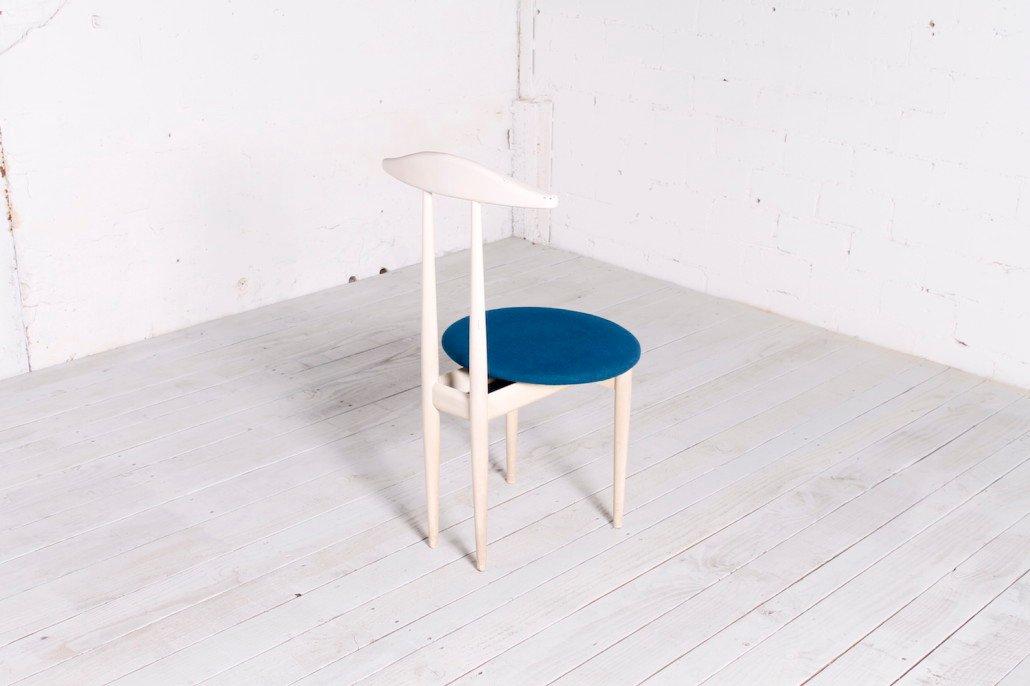 mid century stummer diener beistellstuhl bei pamono kaufen. Black Bedroom Furniture Sets. Home Design Ideas