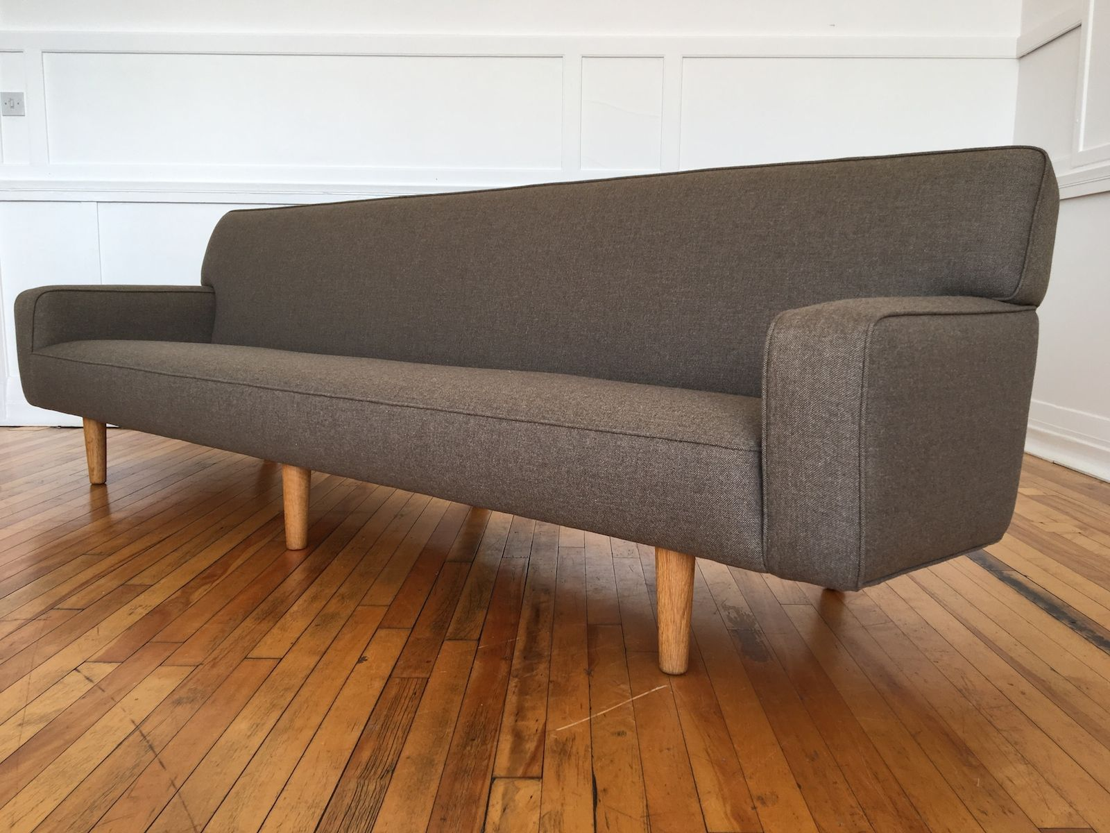 mid century four seater ap33s sofa by hans j wegner for ap stolen for sale at pamono. Black Bedroom Furniture Sets. Home Design Ideas