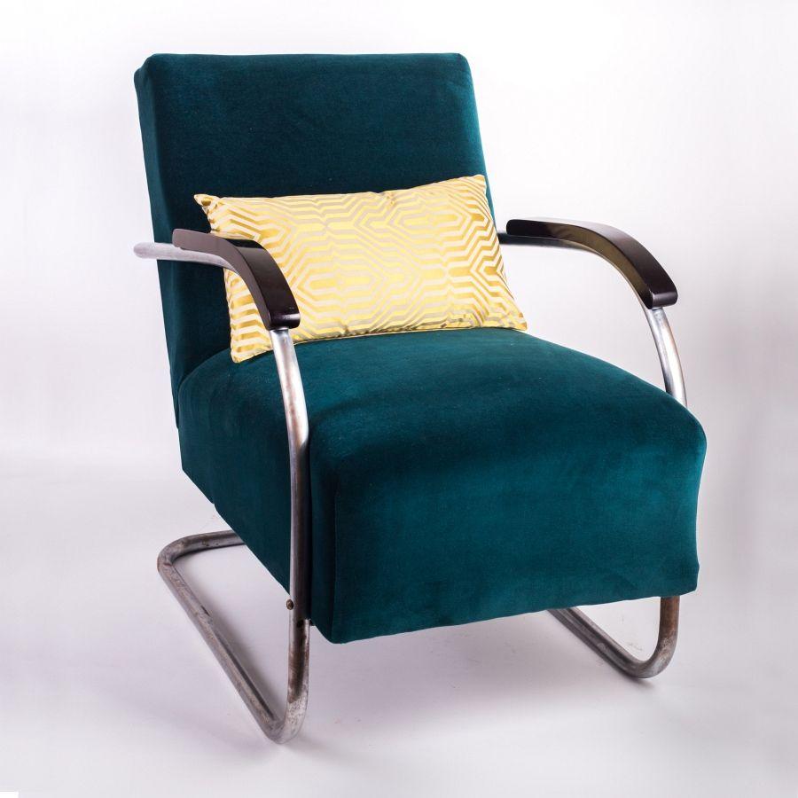 vintage stahlrohr sessel in petrol von marcel breuer 2er set bei pamono kaufen. Black Bedroom Furniture Sets. Home Design Ideas