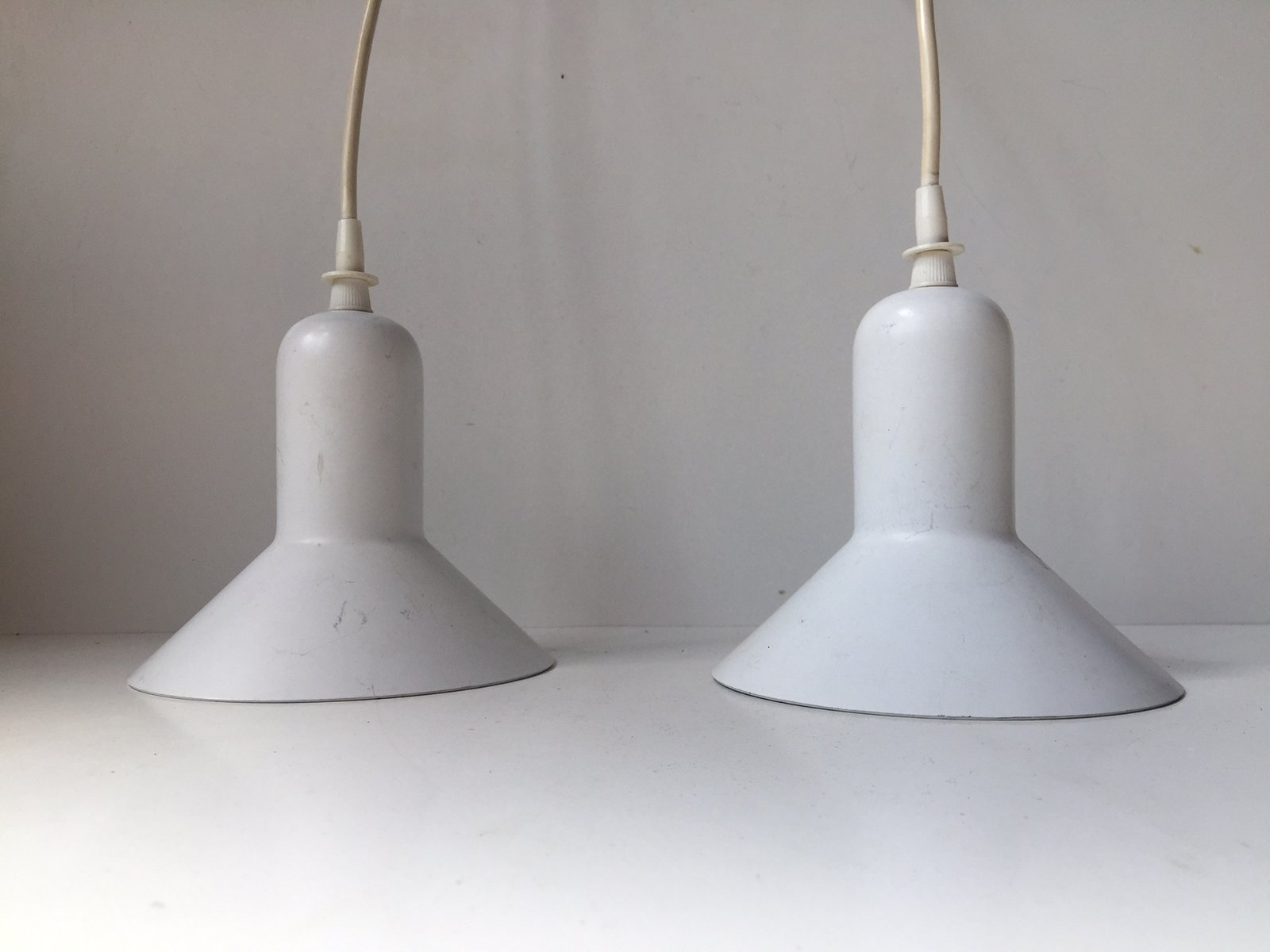 Danish White Minimalist Pendant Lights by Louis Poulsen 1970s Set of 2 for sale at Pamono & Danish White Minimalist Pendant Lights by Louis Poulsen 1970s ... azcodes.com