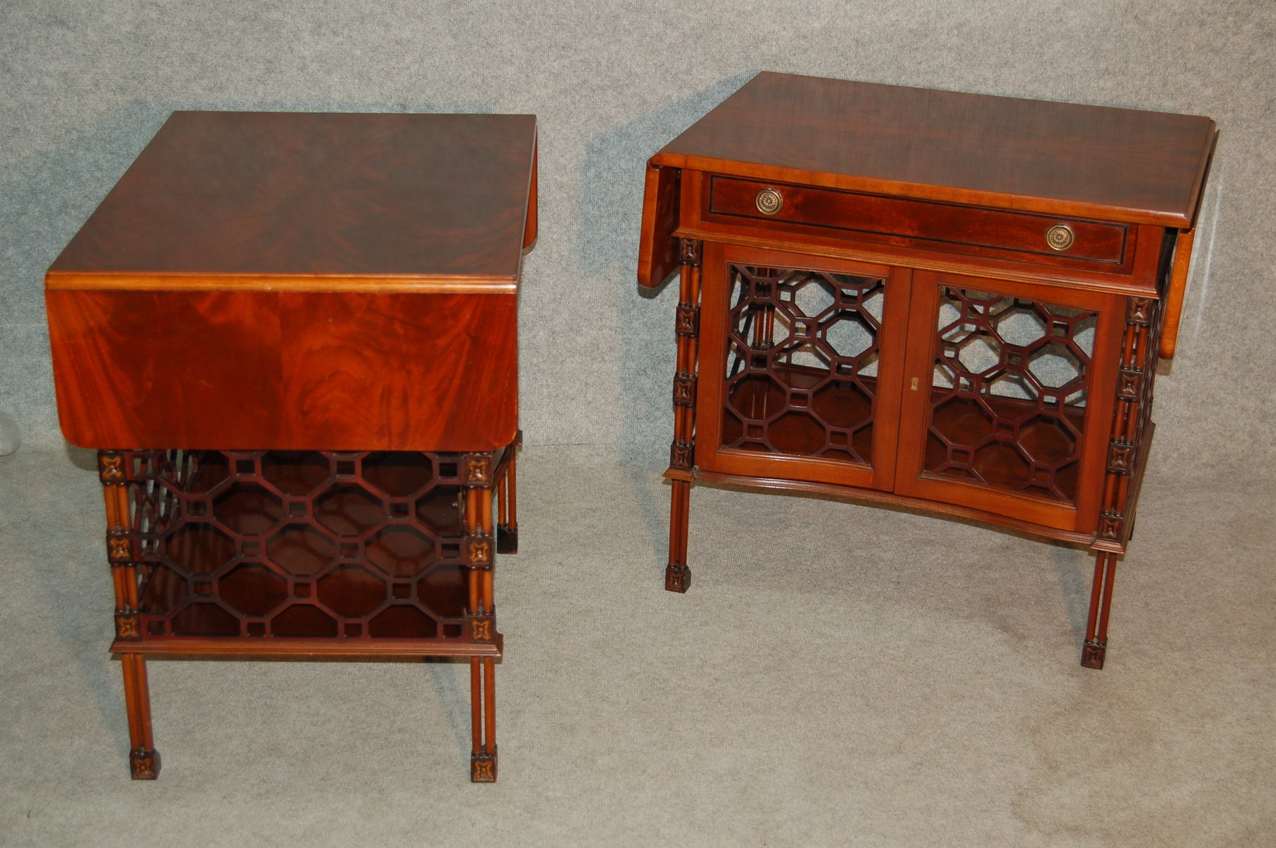 Mid century mahogany coffee tables set of 2 for sale at for Coffee tables b m