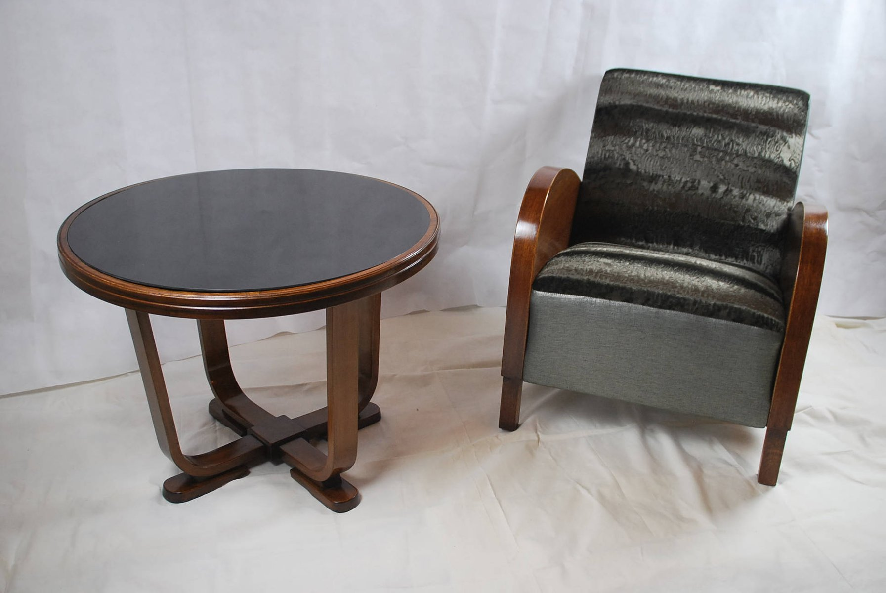 mid-century custom made armchair & coffee table for sale at pamono