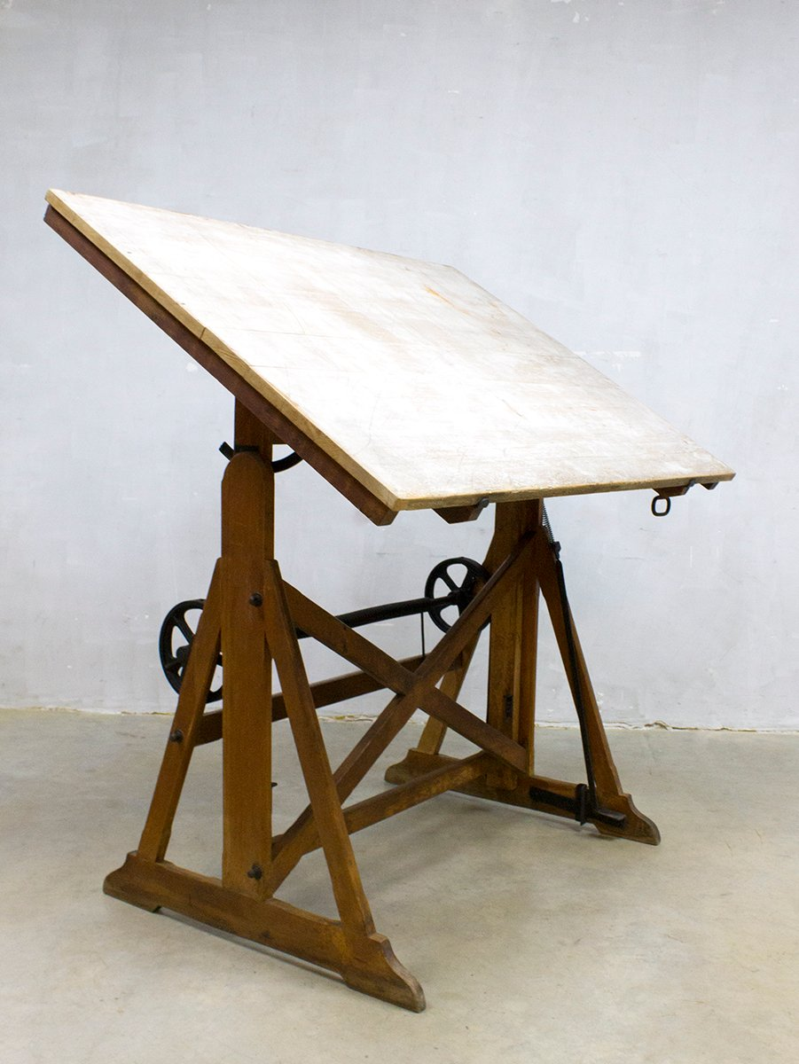 Attractive Vintage Industrial Drawing Table From Ahrend U0026 Zoon