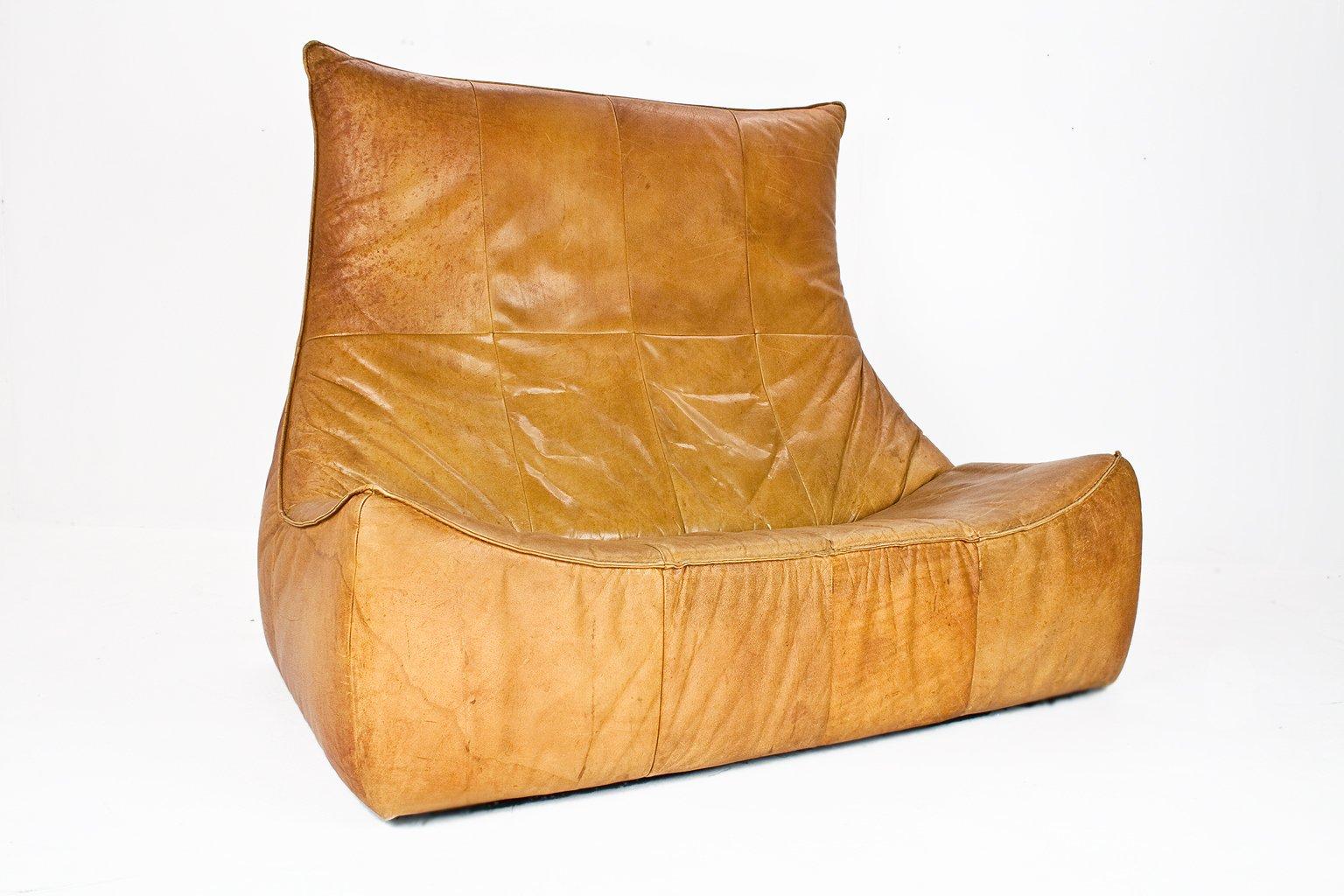 Dutch Aniline Leather Sofa By Gerard Van Den Berg For Montis, 1970