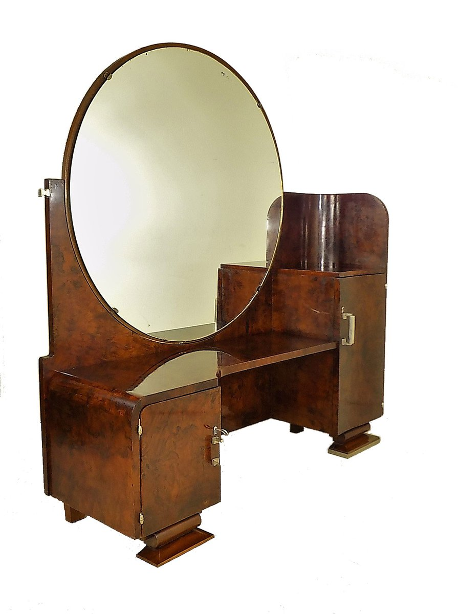 Art Deco Dressing Table with Mirror 1930s for sale at Pamono