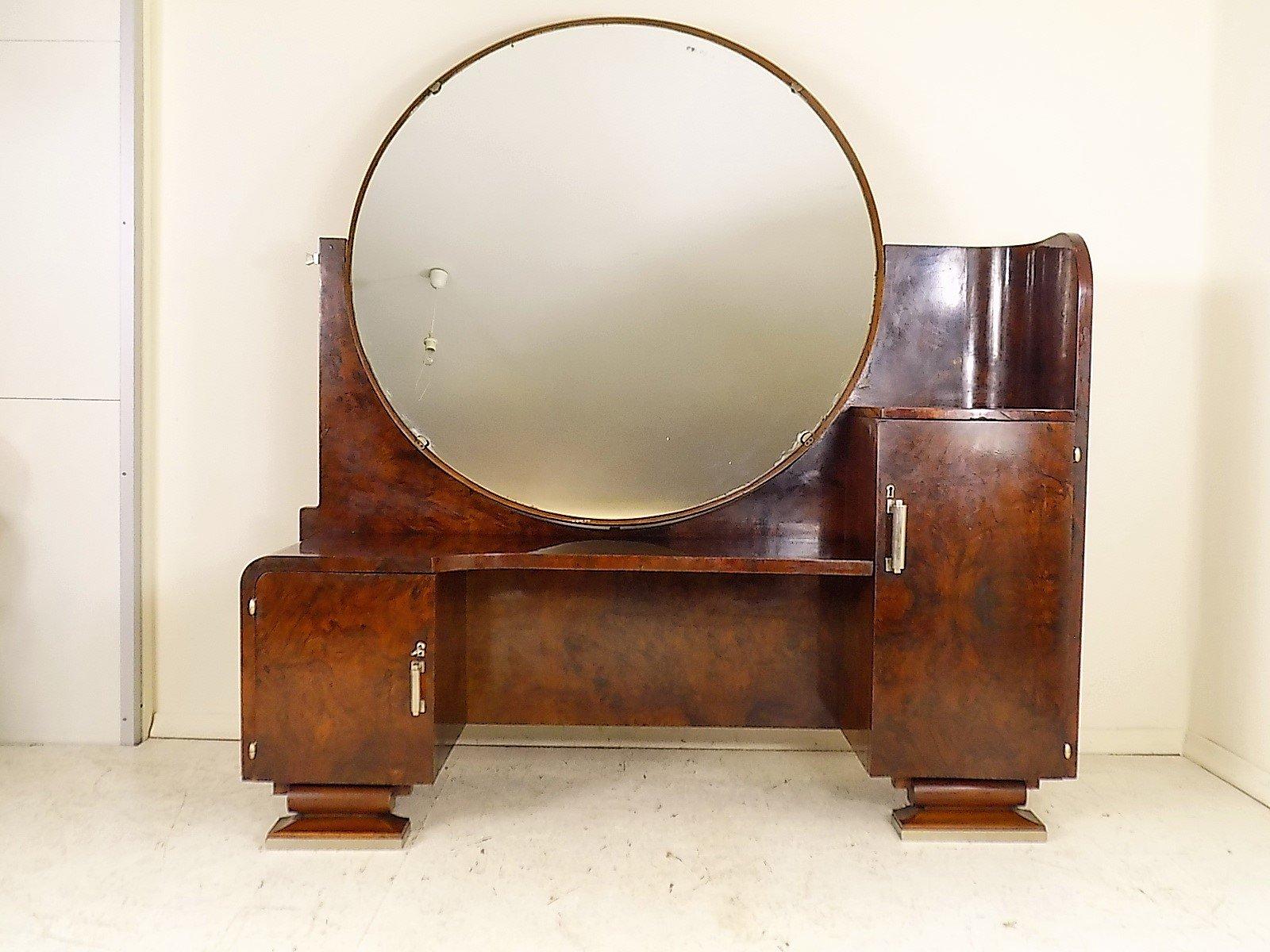 art deco frisiertisch mit spiegel 1930er bei pamono kaufen. Black Bedroom Furniture Sets. Home Design Ideas