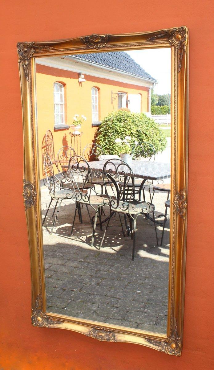 Vintage large gilded framed mirror for sale at pamono for Large framed mirrors for sale