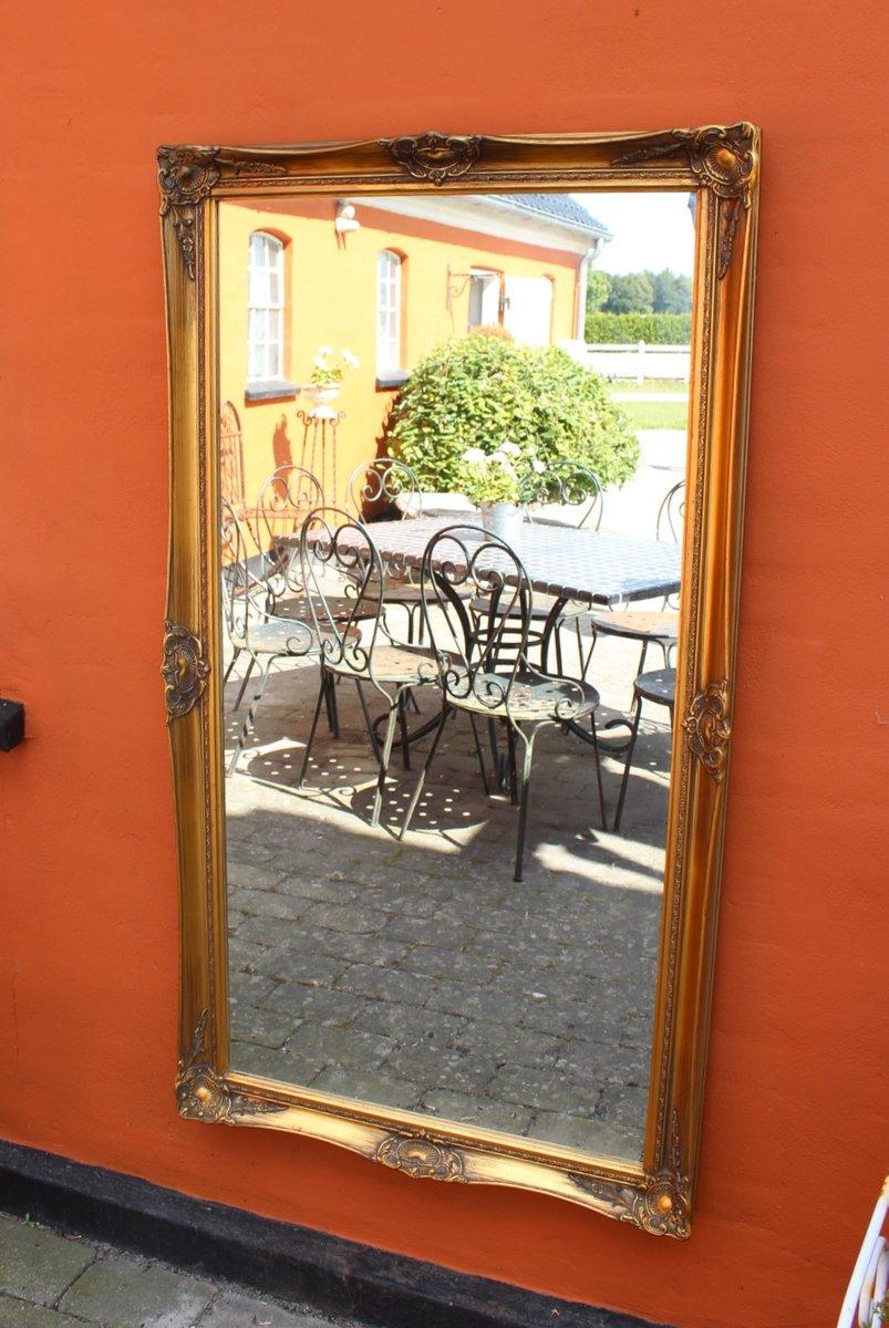 gro er vergoldeter vintage spiegel bei pamono kaufen. Black Bedroom Furniture Sets. Home Design Ideas