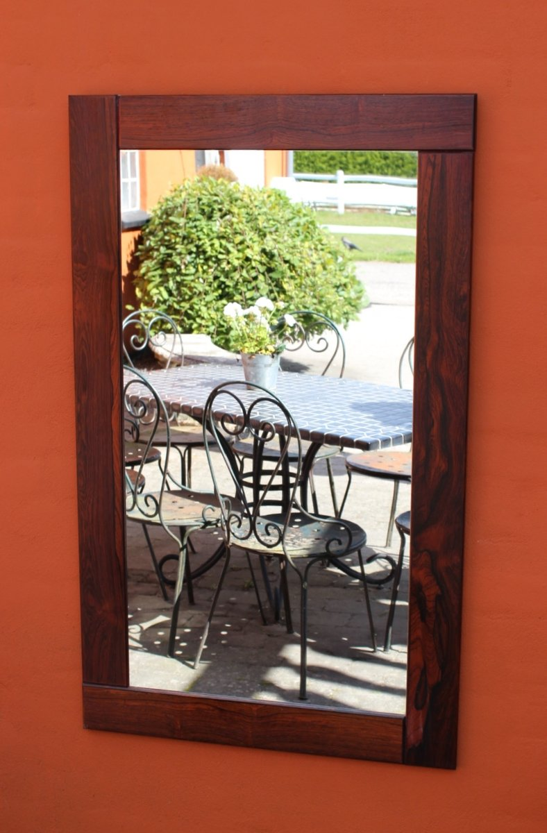 Wide framed rosewood mirror 1960s for sale at pamono for Wide framed mirror