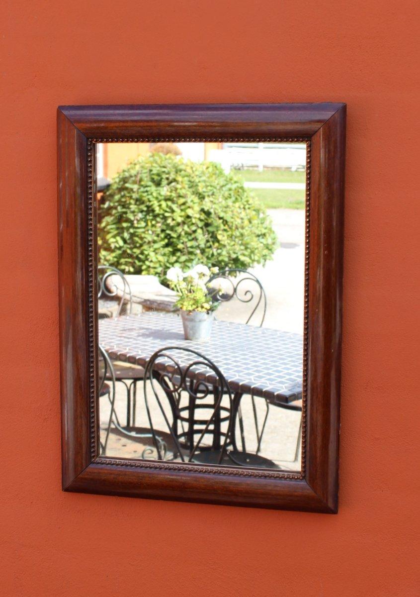 kleiner spiegel mit rahmen aus mahagoni 1920er bei pamono kaufen. Black Bedroom Furniture Sets. Home Design Ideas