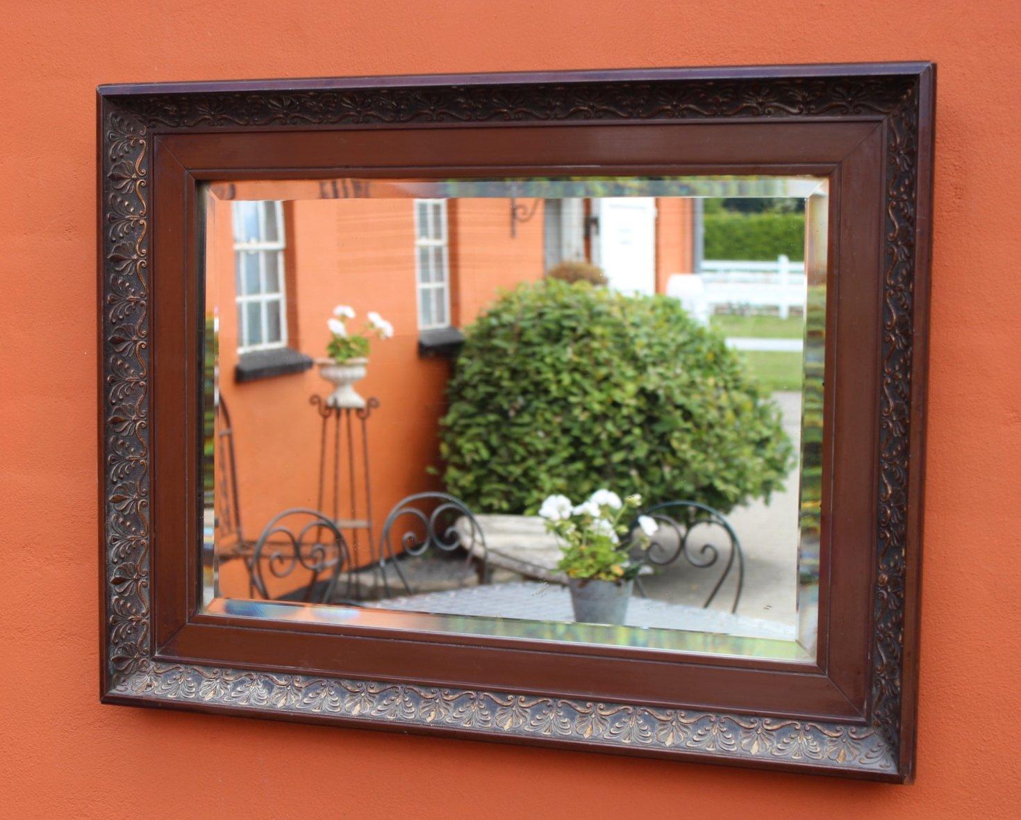 spiegel mit rahmen aus mahagoni 1920er bei pamono kaufen. Black Bedroom Furniture Sets. Home Design Ideas